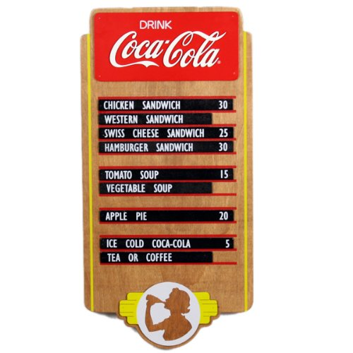 Coca Cola Coca Cola Wood Menu Board