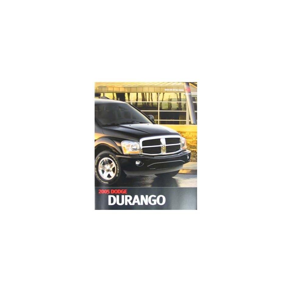 2005 Dodge Durango Sales Brochure Literature Advertisement Options Colors