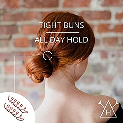 Spiral Bobby Hair Pins/Twist Screw Hair Pins/NON-SCRATCH ROUNDED TIPS / 8 Pack/Rose Gold for Red Hair