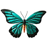 Comfy Hour 9' Blue Black Metal Art Butterfly Wall Decor