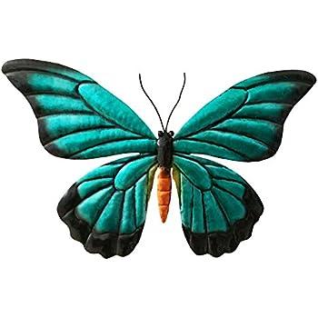 Comfy Hour 9  Blue Black Metal Art Butterfly Wall Decor  sc 1 st  Amazon.com & Amazon.com: Comfy Hour 9