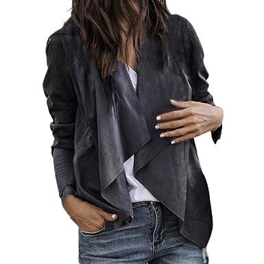 de Dames Mode Hiver Revers de Elecenty Unie Veste Couleur Automne et nwXYpFpqBI