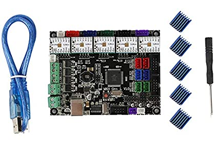 Placa base para impresora 3D MKS GEN L V1.0+ TMC2209V2.1 * 5 ...