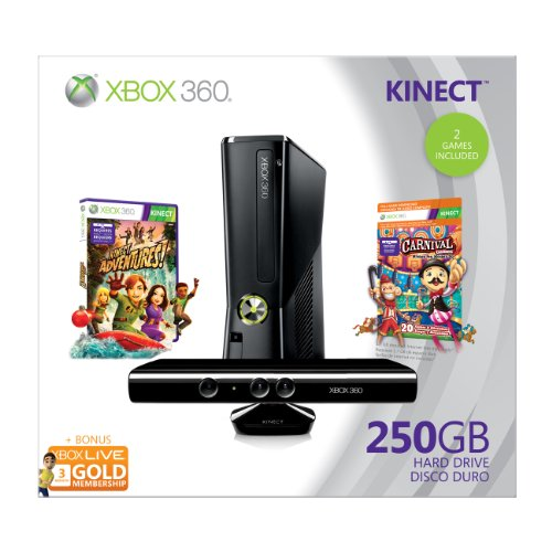 Xbox 360 250GB Holiday Value Bundle with Kinect, used for sale  Delivered anywhere in USA