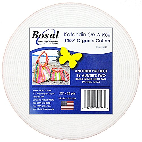 Bosal Katahdin On-A-Roll Organic Cotton Batting 2-1/2 inches 25 Yards