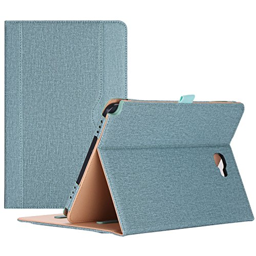ProCase Samsung Galaxy Tab A 10.1 with S Pen Case - Stand Folio Case Cover for Galaxy Tab A 10.1 Inch Tablet with S Pen SM-P580, with Multiple Viewing Angles, Document Card Pocket - Teal