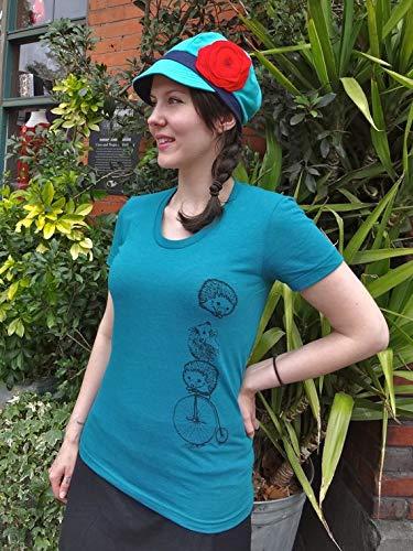Womens Gift, Hedgehog Shirt, Womens T Shirts, Graphic Tee, Bicycle T Shirt, Funny Animal Tee, Animal T Shirt ()