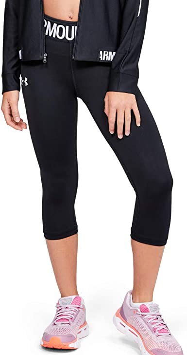 Under Armour Youth Girls Athletic Capri Running Fitted Pants