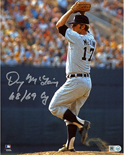 denny-mclain-detroit-tigers-autographed-8-x-10-pitching-photograph-with-68-69-cy-inscription-fanatic