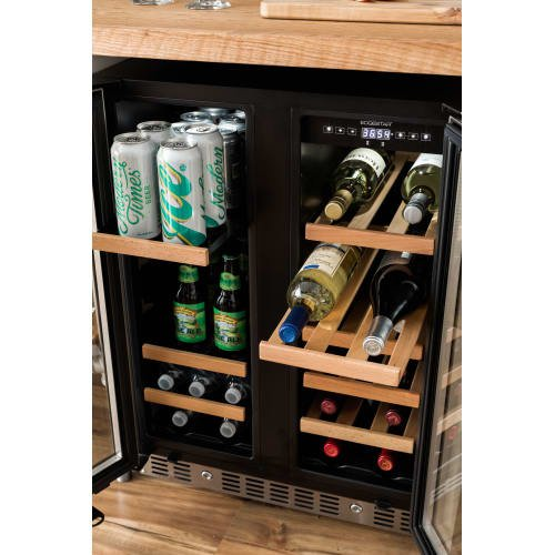 EdgeStar CWB1760FD 24 Inch Built-In Wine and Beverage Cooler with French Doors by EdgeStar (Image #4)