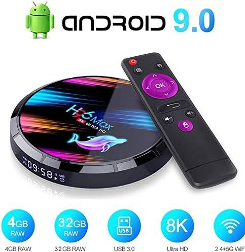 Android 9.0 TV Box, Smart TV Box 4GB RAM / 32GB ROM Amlogic S905X Quad Core Soporte 2.4Ghz / 5.0Ghz WiFi 8K HDMI Bluetooth 4.0 TV Box: Amazon.es: Hogar