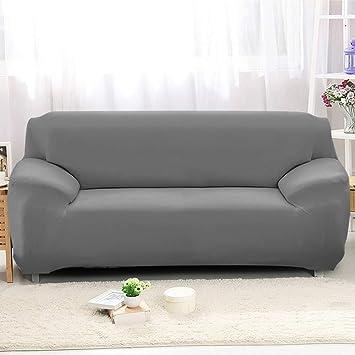 SearchI Funda elástica para sofá de 4 plazas Cubierta Antideslizante en Tejido elástico Extensible Protector del sofá, Color Gris(230-300cm)
