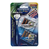 Dorco TG-II Plus Razor Shaving System 11 Cartridges + 1 Handle Shaver for Men & Women Value Pack