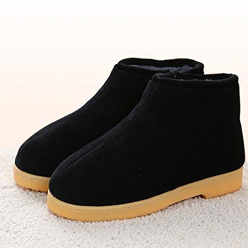 hiver Black antiglisse l'hiver chaleureux chaud Slippers Chaussons House nbsp;L'hiver 43 Accueil moelleux Chaussons chaussures au en LaxBa TAUvqxZn