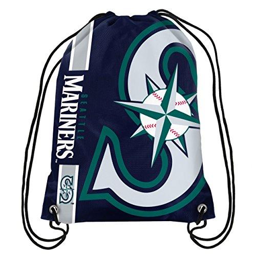 (Seattle Mariners Big Logo Drawstring Backpack)