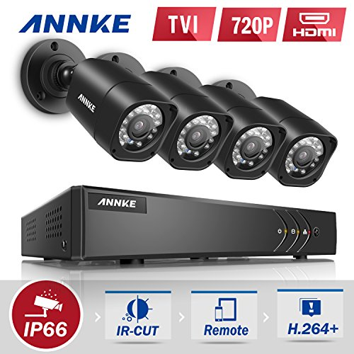 ANNKE 8+2 Channel Security Camera System 1080P Lite H.264+ DVR and (4) 1.0MP 720P Weatherproof Cameras, Email Alert with Snapshots, Enable H.264+ to Record longer, Save money (NO HDD Included). post thumbnail