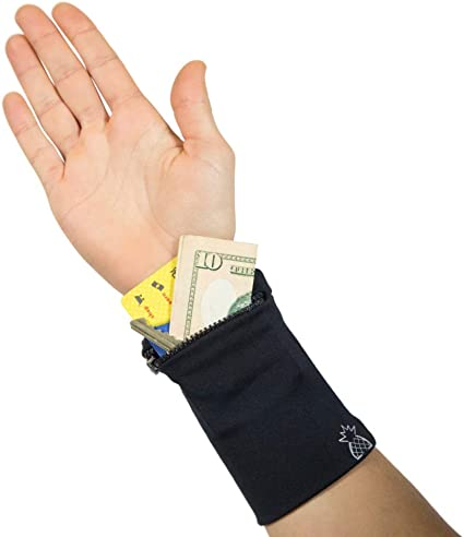 Multifunctional Wristband Sweatband Zipper Wrap Outdoor Sport Wrist Wallet