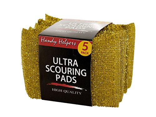 Metallic Ultra Scouring Pads - Pack of 144 by Handy Helpers