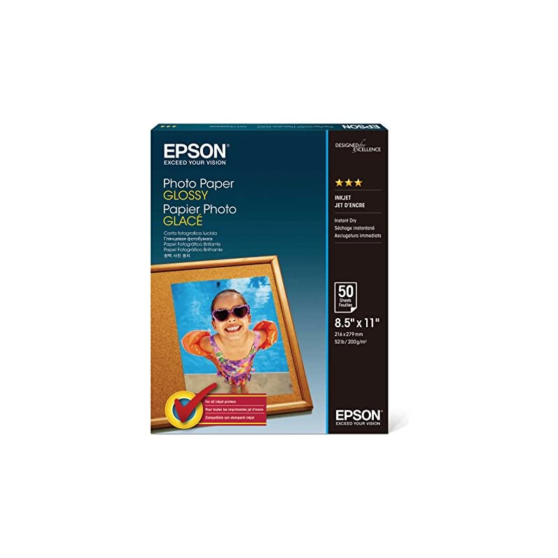 Epson S041649 Glossy Photo Paper, 52 lbs