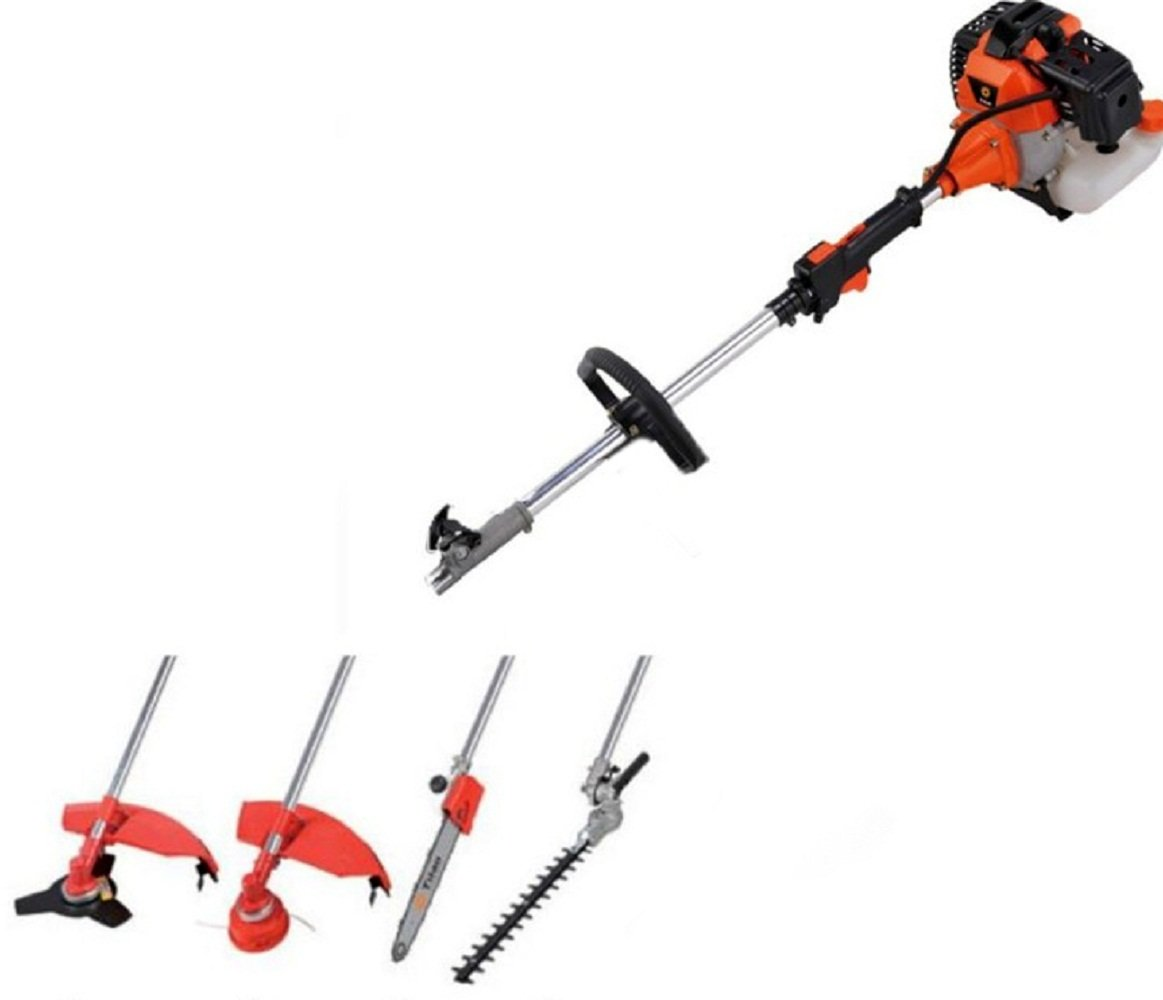 Multi Yard 4 In 1 Pole Saw Chainsaw Hedge Trimmer Line Trimmer Brush Cutter by JDM Auto Lights