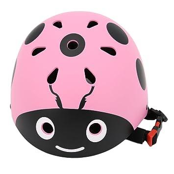 YAKOK Casco de Seguridad para niños, diseño de Escarabajo, Casco de Seguridad para Bicicleta