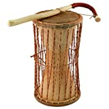 """Overseas Connection African Talking Drum, 11"""" x 5"""""""