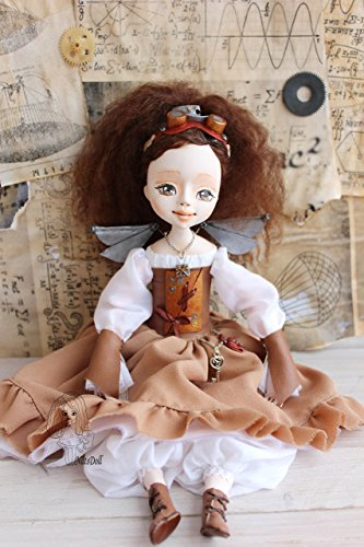 Steampunk fairy, Art clay doll, OOAK Art Doll, clay doll, Polymer clay doll, Handmade doll, Collecting doll, sculpted… 5