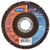 Norton Blaze R980P Abrasive Flap Disc, Type 27, Round Hole, Fiberglass Backing, Ceramic Aluminum Oxide, 4-1/2'' Dia., 36 Grit (Pack of 1)