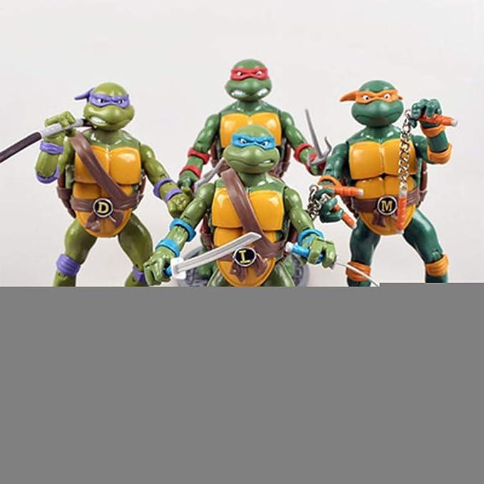 HAIZI FIGURE 4 Teenage Mutant Ninja Turtles TMNT Figura De ...