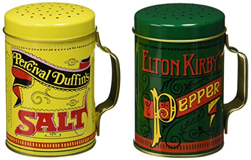 Norpro Nostalgic Salt and Pepper Shakers, With Handles, 2 Piece Set (Stove Top Salt And Pepper Shakers)