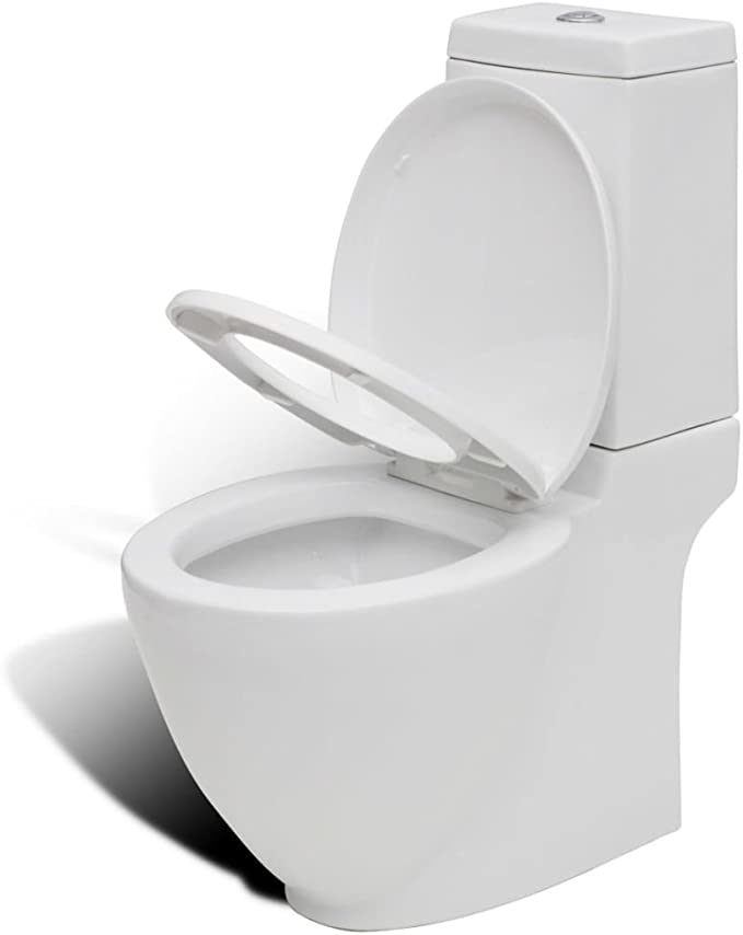 vidaXL Set de Inodoro y Bidé Suelo Pie Cerámica Blanco Váter WC Retrete Bidet: Amazon.es: Hogar