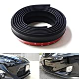 iJDMTOY Universal PU Front Bumper Lip Splitter Chin Spoiler Body Kit Trim, 8ft (2.5 Meters), Matte Black