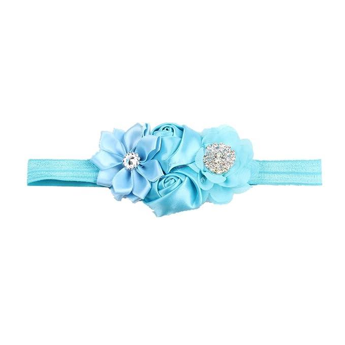 Fasce adorabili della neonata del fiore e del bambino con la fascia per  capelli della principessa 1234babbf6b7