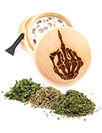 Want Hand Bone Engraved Premium Natural Wooden Grinder Item # PW91316-29 lowestprice