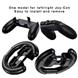 Nintendo Switch Joy Con Grip and Joy Con Wheel, AMDISI 4-Pack Nintendo Switch Grip Handle Kits For Joy-con Controller (2 Kinds)