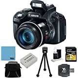 Canon PowerShot SX60 HS 16.1 MP Digital Camera with 65x Wide-Angle Optical Image Stabilized Zoom Super Bundle W/ 32GB Professional 633x SDHC Class 10 UHS-I/U3 Memory Card Up to 95 Mb/s, Dig Pro Case SD USB 2.0 Card Reader, BP 1150