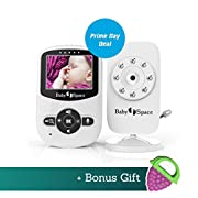 Baby Space Baby Monitor Video with Camera by Premium Wireless Video 2.4  LCD Digital Screen Infrared Night Vision Temperature Monitoring Sensor 2 Way Talkback Extra Long Range Superb Battery life