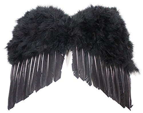 Heaven And Hell Party Costumes (Patymo Realistic Black Angel Wings (Costume Add-On) -- Child Size)