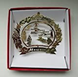 Hawaii Christmas ORNAMENT Hawaiian Island Travel Souvenir Gift