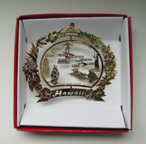 Hawaii Christmas ORNAMENT Hawaiian Island Travel Souvenir ()