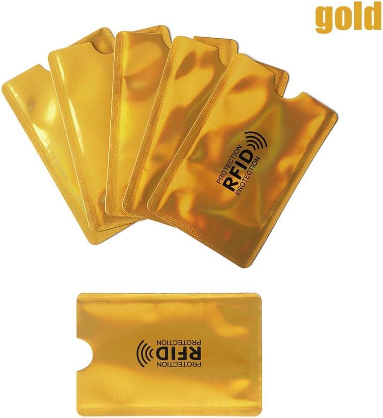 - AM1OX03WH9GB*10 Lot de 10 Pochettes de Protection RFID pour Cartes de cr/édit Argent/é Argent/é. Cartes didentit/é et Cartes de cr/édit