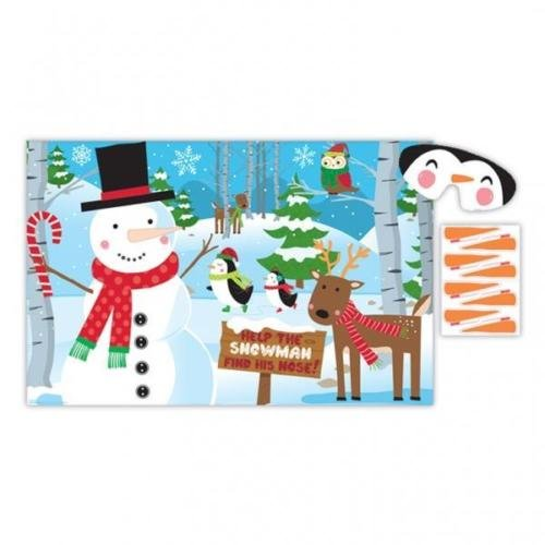 Amscan International Christmas Pin The Nose on the Snowman Party Game