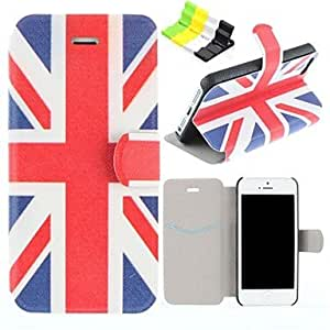 YULIN British Flag Pattern PU Leather Full Body Case Have A Perfume and Phone Holder for iPhone 5/5S