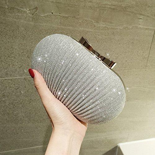 Argenteo Tracolla Donna La Gtvernh Per Design Borsa Fashion Con qvH86Zn