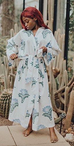 Susannah Cotton Kimono Robe Women s Bathrobe Dressing Gown Bridesmaid 100% Organic  Cotton  Wild Flower Yukata 24321d5ef