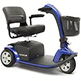 VICTORY 10 Pride 3-wheel Electric Scooter SC610 BLUE + Challenger Mobility Accessories - Bundle