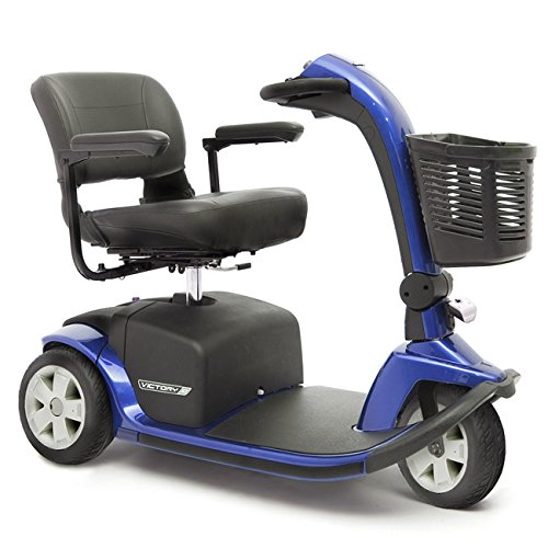 (VICTORY 10 Pride 3-wheel Electric Scooter SC610 BLUE + Challenger Mobility Accessories - Bundle)