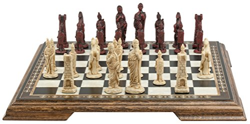 Roman Themed Chess Set - 3 Inches - In Presentation Box -...