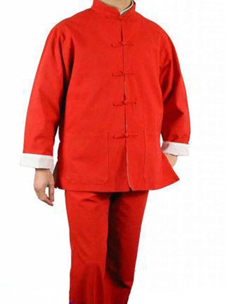 100% Cotton Red Kung Fu Martial Arts Tai Chi Uniform Suit XS-XL or Tailor Made Interact China