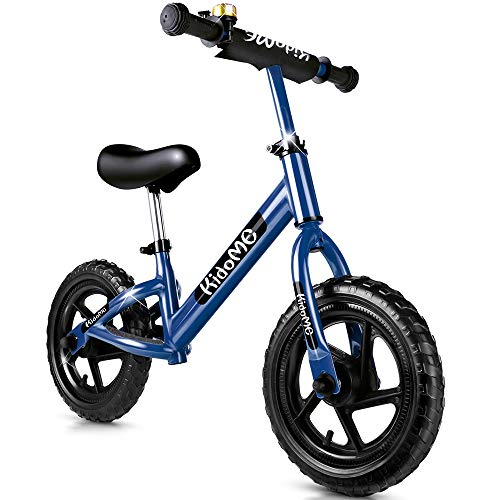 Balance Bike for 3 4 5 6 Years Old for Girls Boys, No Pedal Sport Walking 12 Inch Toddler Kids Balance Bike Bicycle Non-Inflatable Foam Tire with Adjustable Handlebar/Saddle